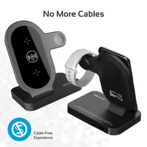 PROMATE Charging Stand for Apple 2-in-1 Wireless Charging Pad