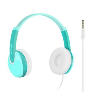 PROMATE Kiddie Over-The-Ear Wired   Stereo Headset with HD Sound. Green