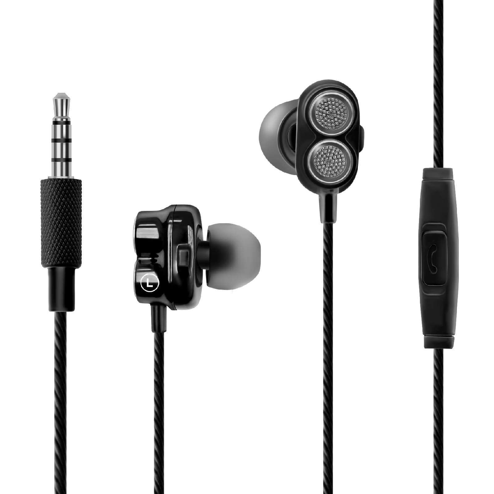 ea7a9a58139 PROMATE Super Bass Dual Drive In-Ear Stereo Earphones - AVN Solutions