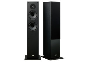 ONKYO Floor standing Front Speakers . 2 x 16cm cone woofers. 1 x 2.5 dome tweeter. Banana plug speaker posts. Woofer equalizer enables fast accurate response. Colour Black