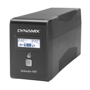 DYNAMIX Defender 650VA (390W)       Line Interactive UPS  936 Joules Surge Protection  2x NZ Power Sockets  Netguard Smart Monitoring